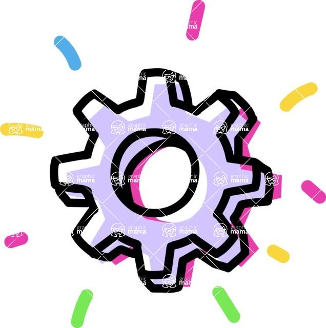 800+ Multi Style Icons Bundle - Free cog wheel icon 4
