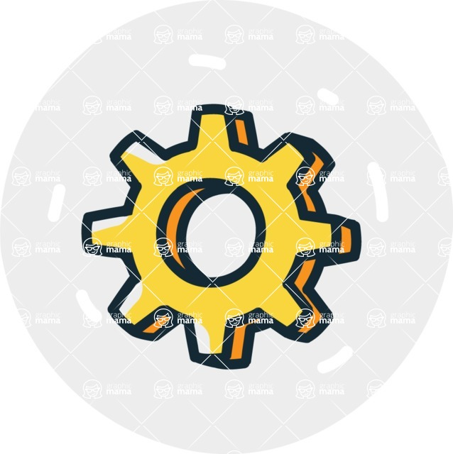 800+ Multi Style Icons Bundle - Free cog wheel icon 7