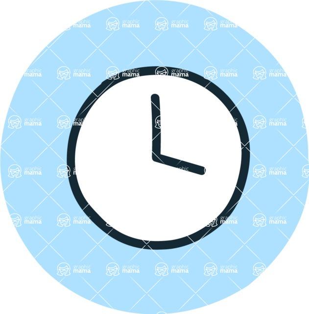 800+ Multi Style Icons Bundle - Free clock icon 3