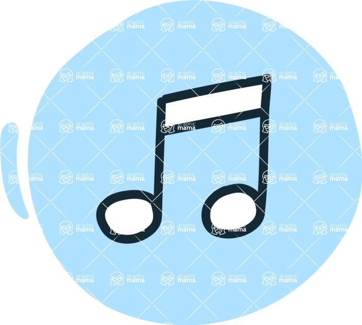 800+ Multi Style Icons Bundle - Free music icon 3