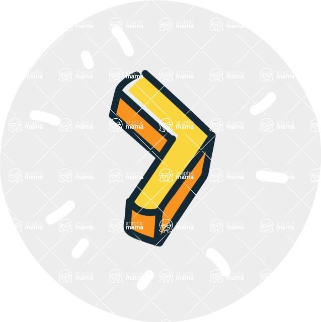 800+ Multi Style Icons Bundle - Free slide right icon 7