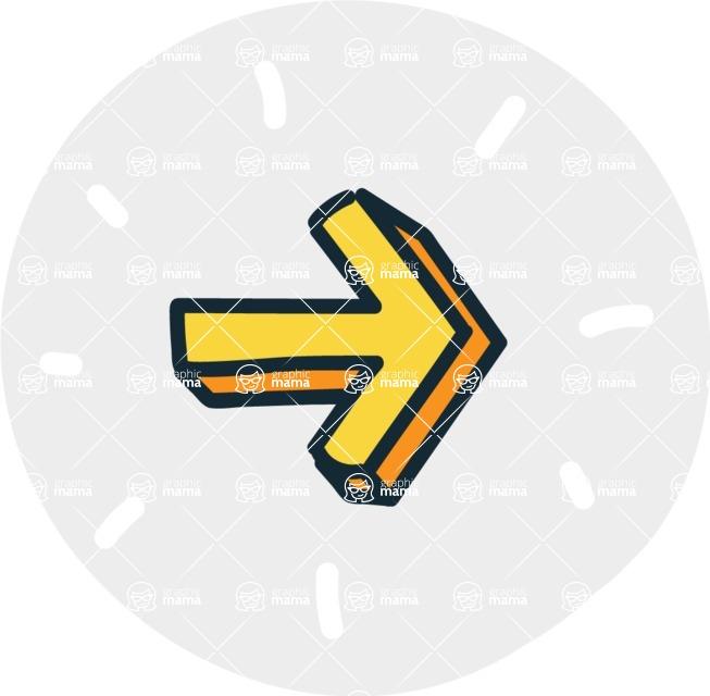 800+ Multi Style Icons Bundle - Free right arrow icon 7