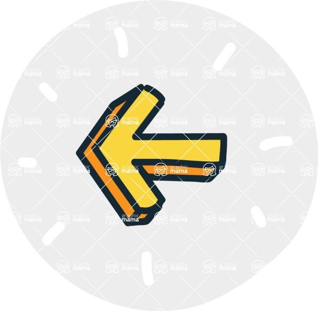 800+ Multi Style Icons Bundle - Free left arrow icon 7