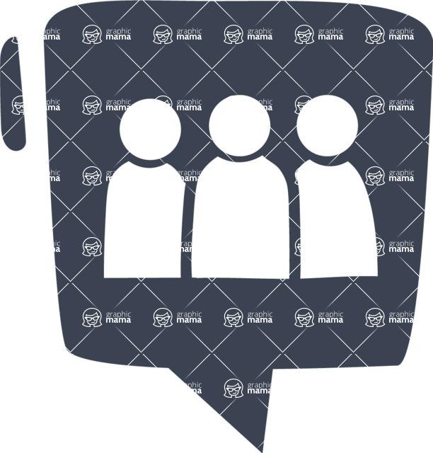 800+ Multi Style Icons Bundle - Free group icon 6