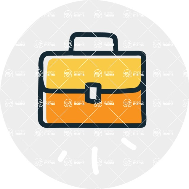 800+ Multi Style Icons Bundle - Free briefcase icon 7