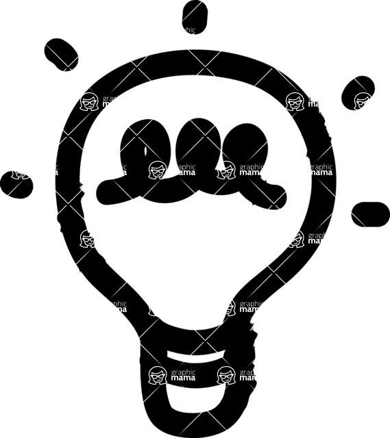 800+ Multi Style Icons Bundle - Free light bulb icon 1