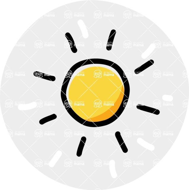 800+ Multi Style Icons Bundle - Free sun icon 7