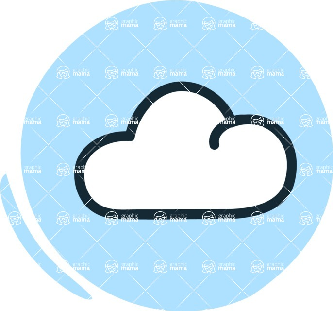 800+ Multi Style Icons Bundle - Free clouds weather icon 3