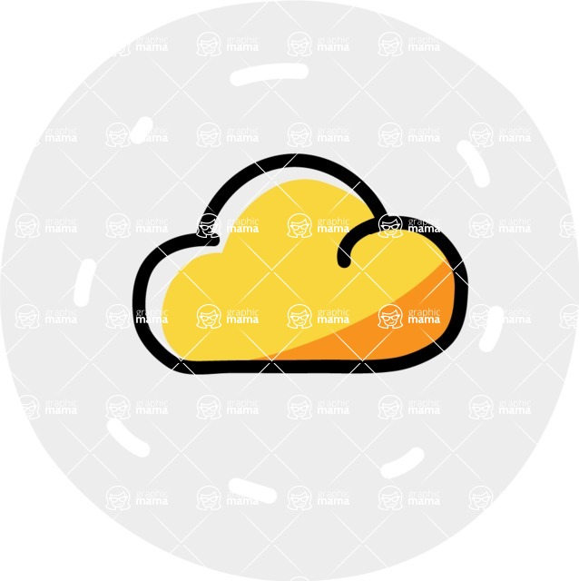 800+ Multi Style Icons Bundle - Free clouds weather icon 7