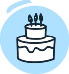 800+ Multi Style Icons Bundle - Free cake icon 3