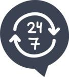 800+ Multi Style Icons Bundle - Free 24 7 non stop icon 6