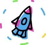 800+ Multi Style Icons Bundle - Free startup rocket icon 4
