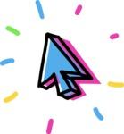 800+ Multi Style Icons Bundle - Free cursor icon 4