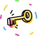 800+ Multi Style Icons Bundle - Free key icon 4