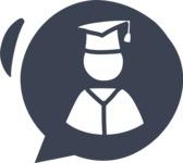 800+ Multi Style Icons Bundle - Free student icon 5