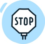 800+ Multi Style Icons Bundle - Free stop sign icon 3