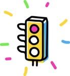 800+ Multi Style Icons Bundle - Free traffic light icon 3