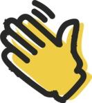 800+ Multi Style Icons Bundle - Free hello hand icon 2