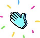 800+ Multi Style Icons Bundle - Free hello hand icon 4
