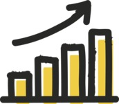 800+ Multi Style Icons Bundle - Free rising stats icon 2