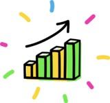 800+ Multi Style Icons Bundle - Free rising stats icon 4