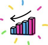 800+ Multi Style Icons Bundle - Free negative stats icon 4