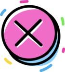 800+ Multi Style Icons Bundle - Free cross X icon 4