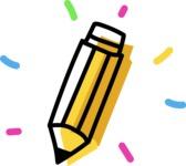 800+ Multi Style Icons Bundle - Free pencil icon 4