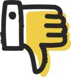 800+ Multi Style Icons Bundle - Free thumbs down icon 2