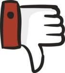 800+ Multi Style Icons Bundle - Free thumbs down icon 5