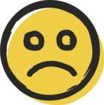 800+ Multi Style Icons Bundle - Free sad face icon 2