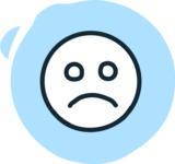 800+ Multi Style Icons Bundle - Free sad face icon 3