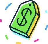 800+ Multi Style Icons Bundle - Free price icon 3