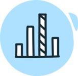 800+ Multi Style Icons Bundle - Free statistics icon 3