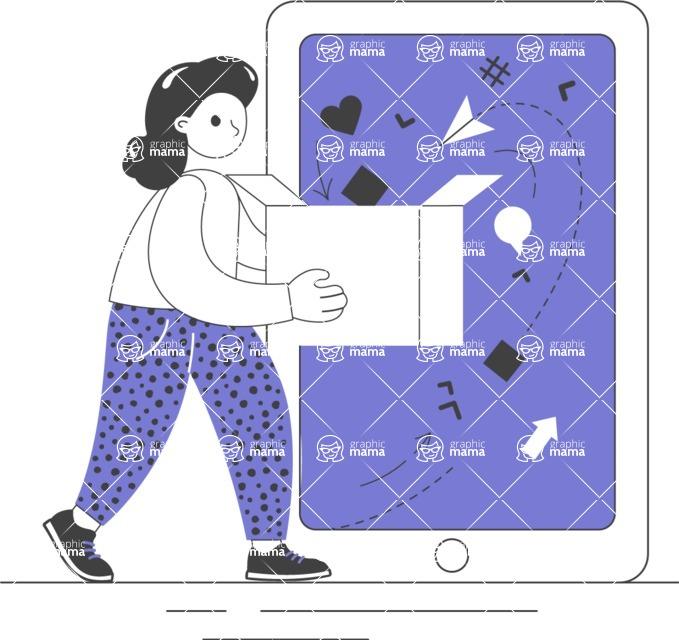 Modern Flat People Illustrations Bundle - free-people-illustration-100