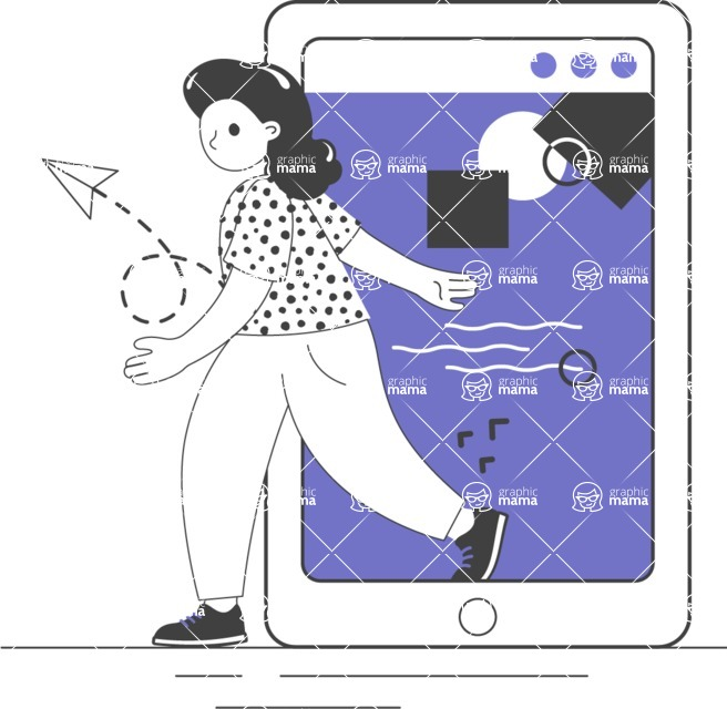 Modern Flat People Illustrations Bundle - free-people-illustration-102