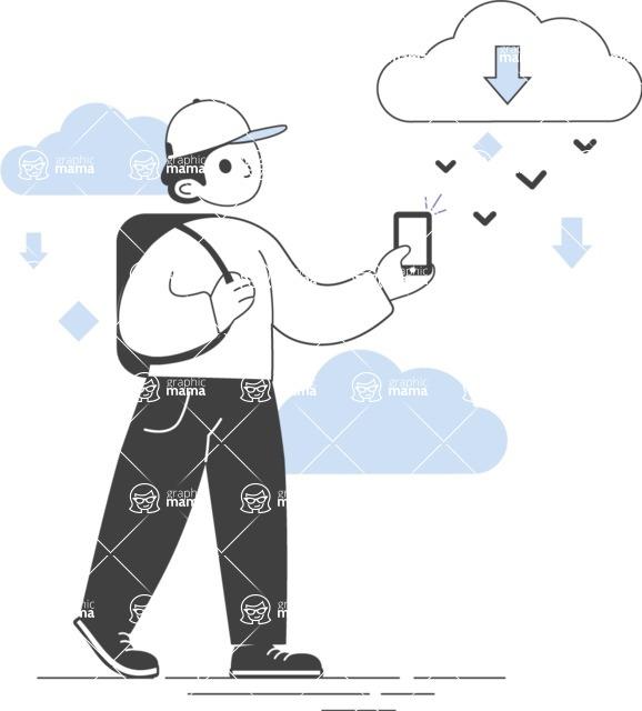 Modern Flat People Illustrations Bundle - free-people-illustration-104