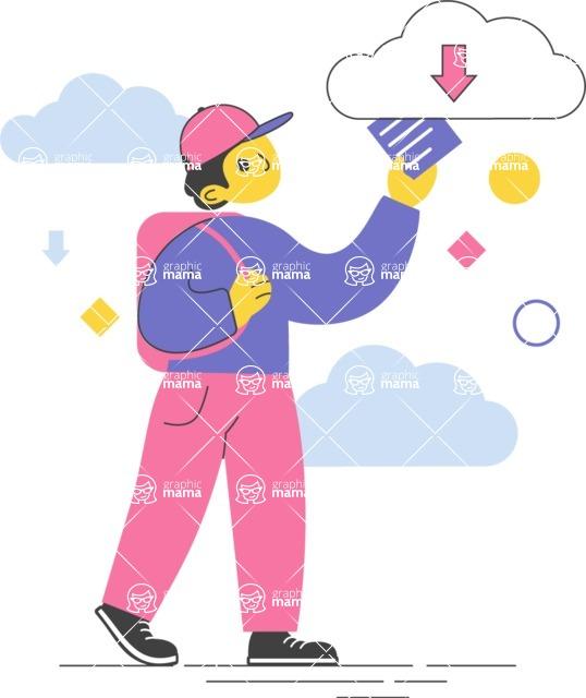 Modern Flat People Illustrations Bundle - free-people-illustration-105