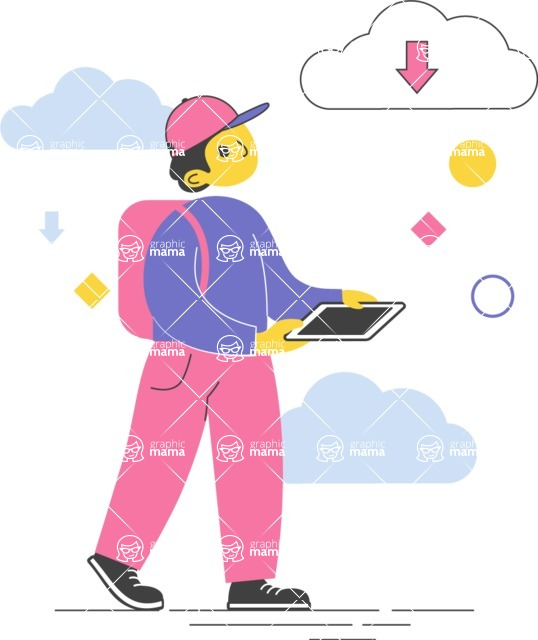 Modern Flat People Illustrations Bundle - free-people-illustration-107