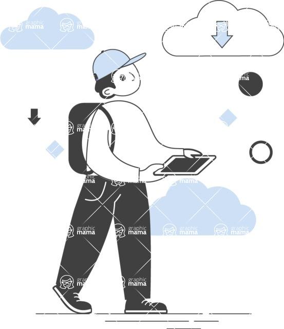 Modern Flat People Illustrations Bundle - free-people-illustration-108