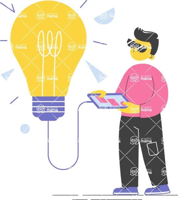 Modern Flat People Illustrations Bundle - free-people-illustration-109