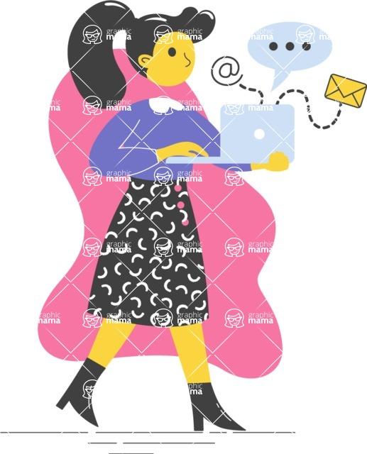 Modern Flat People Illustrations Bundle - free-people-illustration-11