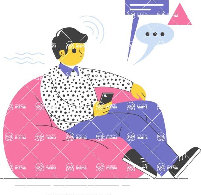 Modern Flat People Illustrations Bundle - free-people-illustration-15