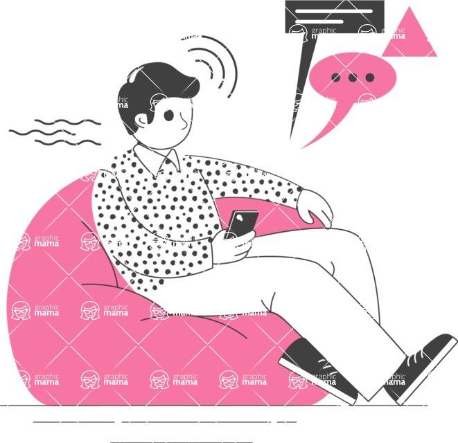 Modern Flat People Illustrations Bundle - free-people-illustration-16