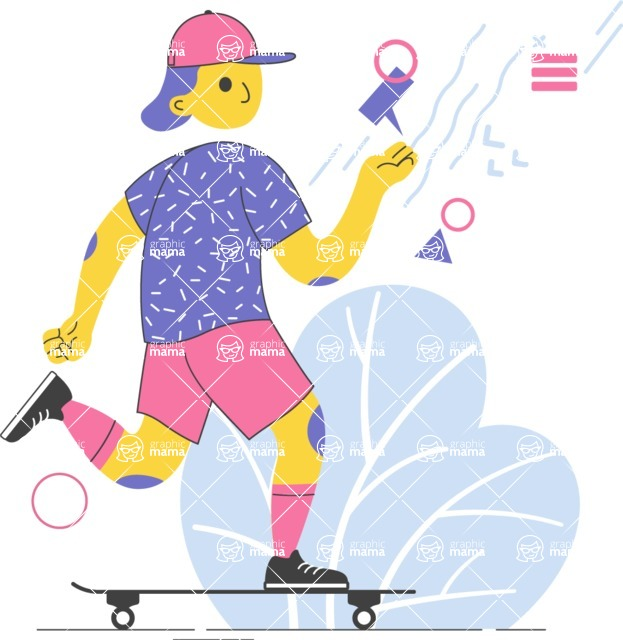 Modern Flat People Illustrations Bundle - free-people-illustration-21
