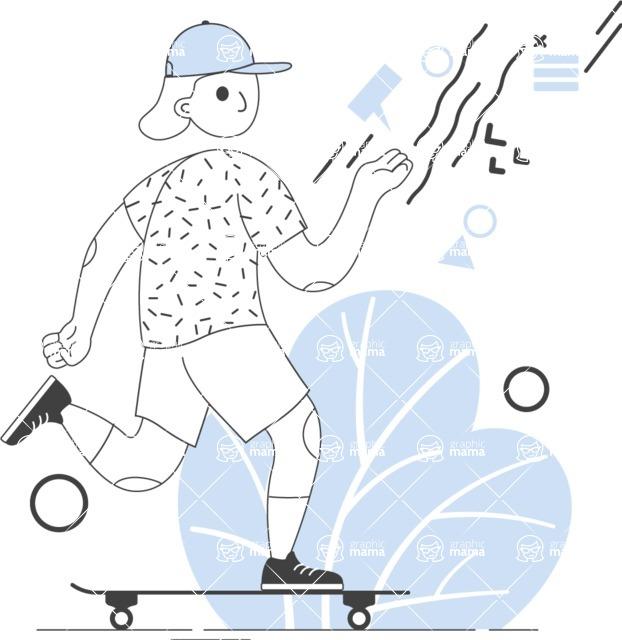 Modern Flat People Illustrations Bundle - free-people-illustration-22