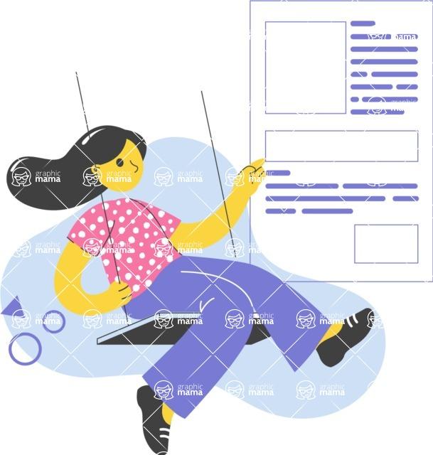 Modern Flat People Illustrations Bundle - free-people-illustration-27
