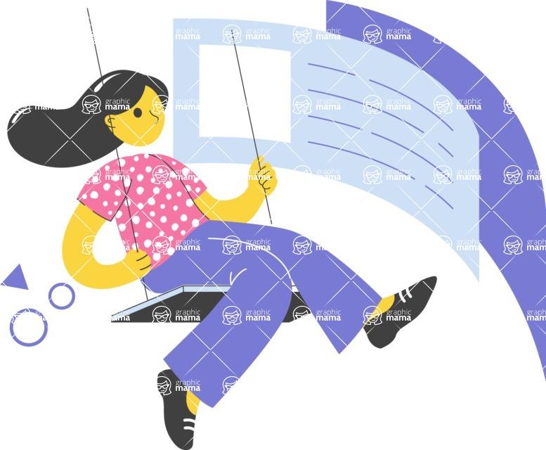 Modern Flat People Illustrations Bundle - free-people-illustration-29