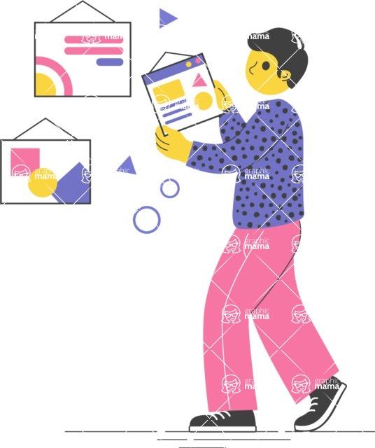 Modern Flat People Illustrations Bundle - free-people-illustration-37