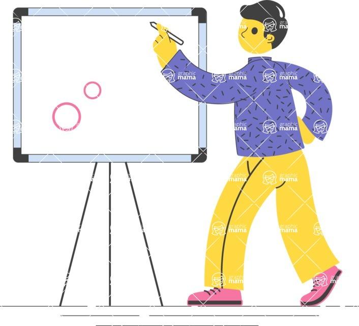 Modern Flat People Illustrations Bundle - free-people-illustration-42